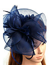 Tulle Feather Net Fascinators Hats Headwear Birdcage Veils with Floral 1pc Wedding Special Occasion Headpiece