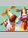 Pictat manual Animal Pop Orizontal,Modern Stil European Un Panou Canava Hang-pictate pictură în ulei For Pagina de decorare