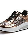 Pentru femei Pantofi Imitație de Piele Primăvară / Toamnă Confortabili / Tălpi cu Lumini Mocasini & Balerini Plimbare Toc Platformă Vârf