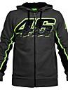 vr46 motogpモータースポーツレーシングパーカージャケット黒メンズテキスタイルバイカースウェットシャツ