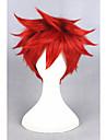 人工毛ウィッグ / コスチュームウィッグ ストレート スタイル キャップレス かつら レッド レッド 合成 女性用 レッド かつら ショート