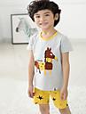 Unisex Set Îmbrăcăminte Imprimeu Animal Bumbac Zilnic Vară Gri