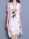 Pentru femei Mărime Plus Size Larg Rochie Floral Sub Genunchi