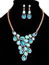 Pentru femei Seturi de bijuterii Cristal Sintetic Opal La modă Euramerican Cristal Opal Aliaj Bijuterii 1 Pereche de Cercei Coliere Pentru