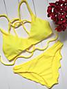 Femei Bikini Femei Cu Susținere Solid Dantelat Nailon