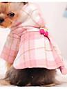 Chien Manteaux Vetements pour Chien Bloc de Couleur Rose Bleu clair Coton Costume Pour Hiver Homme Femme Mode