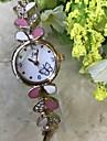Pentru femei Ceas Brățară Simulat Diamant Ceas Ceas La Modă Ceas de Mână Chineză Quartz / imitație de diamant Aliaj Bandă Casual Roz auriu
