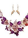 Pentru femei Coliere Vintage Bijuterii Stil Floral Flori Floral Flower Shape 1 Colier 1 Pereche de Cercei Pentru Nuntă Petrecere Ocazie