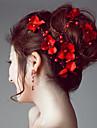 Kuenstliche Perle / Satin Stirnbaender / Blumen / Kopf Kette mit 1 Hochzeit / Besondere Anlaesse / Draussen Kopfschmuck