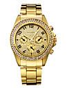 Bărbați pentru Doamne Pentru cupluri Ceas Elegant Quartz Oțel inoxidabil Bandă Sclipici Luxos Auriu Auriu Alb