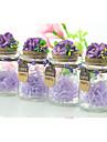 Cilindru Hârtie Reciclabilă Favor Holder Cu Flori Terminaţii Sticle și Borcane pentru Dulciuri