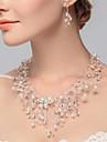 Pentru femei Coliere Choker Perle Aliaj Euramerican Alb Bijuterii Pentru Nuntă Petrecere Ocazie specială Zi de Naștere Logodnă Casual 2pcs
