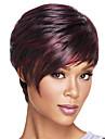 Syntetiskt hår peruker Rak Ombre-hår Värmetåligt Bob-frisyr Med lugg Utan lock Karneval peruk Halloween Paryk Naturlig peruk