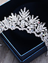 Crystal Rhinestone Alloy Tiaras Headbands Headwear Hair Pin with Floral 1pc Wedding Special Occasion Outdoor Headpiece