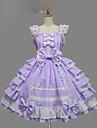 Πριγκίπισσα Γλυκιά Λολίτα Γυναικεία Κοριτσίστικα jsk / Φούστα με Τιράντες Cosplay Βυσσινί / Κίτρινο / Μπλε Βραδινή τουαλέτα Σκουφί Κοντομάνικο Κοντό / Μίνι Μεγάλα Μεγέθη Προσαρμοσμένη Κοστούμια