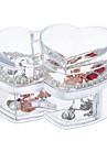Textil Plast Oval Plast Resan Genomskinlig Hem Organisation, 1st Skrivbordsorganiserare Makeupförvaring Smyckesboxar Smyckesförvaring