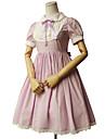Princesse Doux Femme Fille Robes Cosplay Vert / Rose / Bleu Encre Manches Courtes Mi-long Les costumes