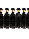 Brasilianskt hår Curly Weave Lockigt Hårförlängning av äkta hår Heta Försäljning 6 delar 0.3