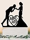 Vârfuri de Tort Cuplu Clasic Nuntă Petrecere Ocazie specială Petrecere / SearăTemă Plajă Temă Grădină Temă Flurure Temă Fluture Temă