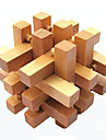 Mingi Puzzle Lemn Jocuri IQ Kong Ming Lock Luban de blocare Pătrat Test de inteligenta Lemn Unisex Cadou