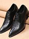 Bărbați Pantofi Piele Primăvară Toamnă Confortabili Noutăți Pantofi formale Oxfords Plimbare Dantelă Pentru Nuntă Party & Seară Negru