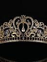 Rhinestone / Alloy Tiaras / Headwear with Floral 1pc Wedding / Special Occasion Headpiece