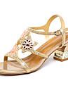 Damă Sandale Vară Toamnă Pantofi Club Confortabili Noutăți Piele Microfibre Nuntă Party & Seară Rochie Toc GrosPiatră Semiprețioasă