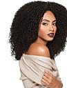 Syntetiska peruker Lockigt Afro Värmetåligt Densitet Utan lock Dam Svart Naturlig peruk Lång Syntetiskt hår