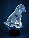 hundsköldpaddor berör dimning 3d led nattlampa 7färgad dekoration atmosfär lampa nyhet belysning ljus