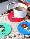 1 st USB-hub kopp varmare kontor kaffe te mugg värmare matta vinter dricka slumpmässig färg