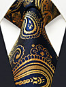 Bărbați Imprimeu Paisley Toate Sezoanele Vintage Draguț Petrecere Birou Casual Mătase,Cravată Bleumarin