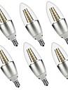 5W E14 Becuri LED Lumânare C35 35 led-uri SMD 3528 Decorativ Alb Cald Alb 500lm 3000 6000K AC 220-240 AC 110 - 130V