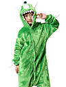 Kigurumi Pijamale Monster Costume Verde Costume Cosplay Leotard / Onesie Cosplay Festival / Sărbătoare Sleepwear Pentru Animale Halloween