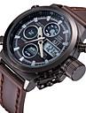 ASJ Bărbați Ceas digital Japoneză Calendar / Cronograf / Rezistent la Apă Piele Bandă Lux Maro