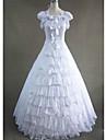 Gotic Βικτωριανής Εποχής Medieval Costume Pentru femei Rochii Costume petrecere Mascaradă Vintage Cosplay Șifon Bumbac Fără manșon Beretă Lungime Podea Mărime Plus Size Personalizate