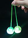LED-belysning Jojo Kulor Finger Yo yo Stresslindrande leksaker Leksaker Kul Cirkelrunda Boll Kiselgel Bitar Barns Ospecificerat Unisex