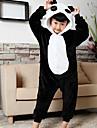 Kid\'s Kigurumi Pajamas Panda Onesie Pajamas Flannel Toison Black Cosplay For Boys and Girls Animal Sleepwear Cartoon Festival / Holiday Costumes