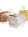 Rotund Pătrat Cubic Hârtie cărți de masă Favor Holder cu Panglici Imprimare Cutii de Savoare
