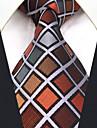 Bărbați Carouri Toate Sezoanele Vintage Draguț Petrecere Birou Casual Mătase,Cravată