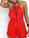 Pentru femei Culoare solidă Ieșire Culoare pură,Casul/Zilnic Relaxat Salopete Pant scurt Halter Vară