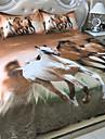 Seturi Duvet Cover Geometric 4 Piese Poli/Bumbac Imprimeu reactiv Poli/Bumbac 1pc Plapumă Duvet 2pcs Shams 1pc Cearceaf Plat