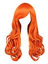 人工毛ウィッグ / コスチュームウィッグ カール スタイル キャップレス かつら ブロンド オレンジ 合成 女性用 ブロンド かつら ミディアム