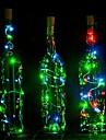 1pc 2m 20led korkformad ledad natt starry ljus kopparstrålepropp vinflasklampa dekoration färgstark