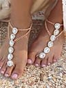 Perle Sandale Desculț - Imitație de Perle Picătură Modă Auriu / Argintiu Pentru Zilnic / Casual / Pentru femei / Ștras