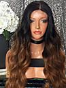 Φυσικά μαλλιά Δαντέλα Μπροστά Χωρίς Κόλλα Δαντέλα Μπροστά Περούκα Beyoncé στυλ Βραζιλιάνικη Κυματομορφή Σώματος Ombre Περούκα 180% Πυκνότητα μαλλιών / Μαλλιά με ανταύγειες / Φυσική γραμμή των μαλλιών