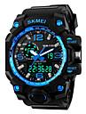 SKMEI Heren Sporthorloge Digitaal horloge Digitaal Silicone Zwart Alarm Kalender Cool Analoog-Digitaal Rood Blauw Goud Twee jaar Levensduur Batterij / Maxell626 + 2025