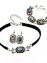 Pentru femei Seturi de bijuterii Colier / bratara Cowry Aliaj Geometric Shape Personalizat Design Unic Bijuterii Statement Euramerican