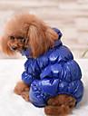 Hund Jumpsuits Hundkläder Enfärgad Svart Mörkblå Röd Cotton Ner Kostym För husdjur Herr Dam Ledigt/vardag Håller värmen