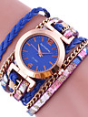 Women\'s Ladies Bracelet Watch Wrap Bracelet Watch Quartz Wrap Leather Black / White / Blue Colorful Analog Charm - Blue Pink Golden One Year Battery Life / Tianqiu 377