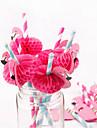 10pcs / lot flamingo dekorationspapper dricka strånar fest strån